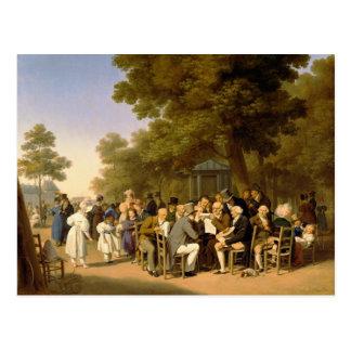 Políticos en los jardines de Tuileries, 1832 Tarjetas Postales