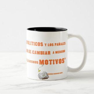politicos Two-Tone coffee mug