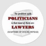 Políticos y abogados etiqueta