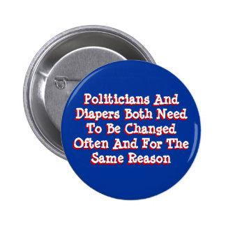 Políticos y pañales pin