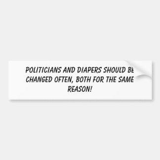 Políticos y pegatina para el parachoques de los pa pegatina de parachoque