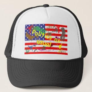 Politics as usual trucker hat