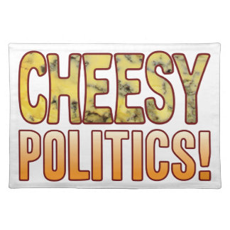 Politics Blue Cheesy Cloth Placemat