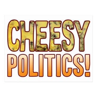 Politics Blue Cheesy Postcard