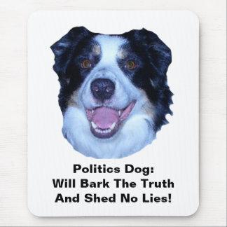 Politics Border Collie Bark The Truth Mouse Pad
