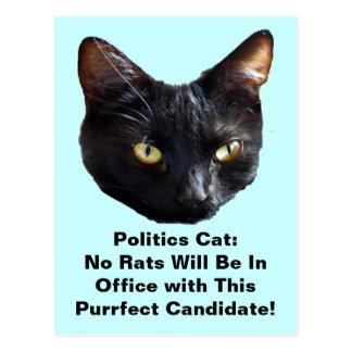 Politics Cat No Rats Will Be In Office Postcard