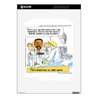 Politics: Does It Take Brain Surgery? Decal For iPad 2