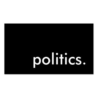 politics. Double-Sided standard business cards (Pack of 100)