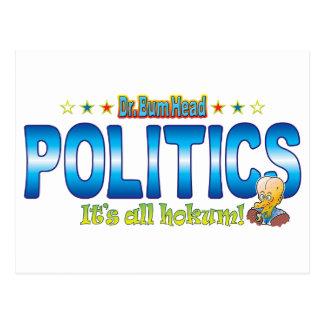 Politics Dr. B Head Postcard