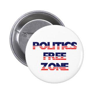 Politics Free Zone 2 Inch Round Button