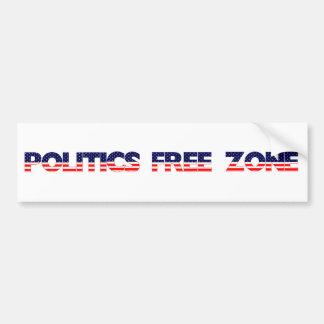 Politics Free Zone Bumper Sticker