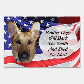 Politics German Shepherd and American Flag Sign