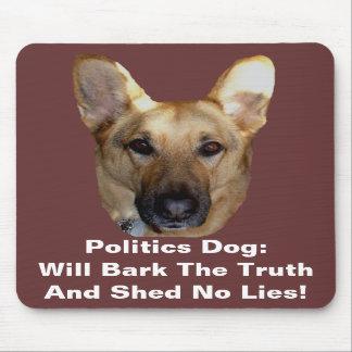 Politics German Shepherd Dog Will Bark The Truth Mousepad