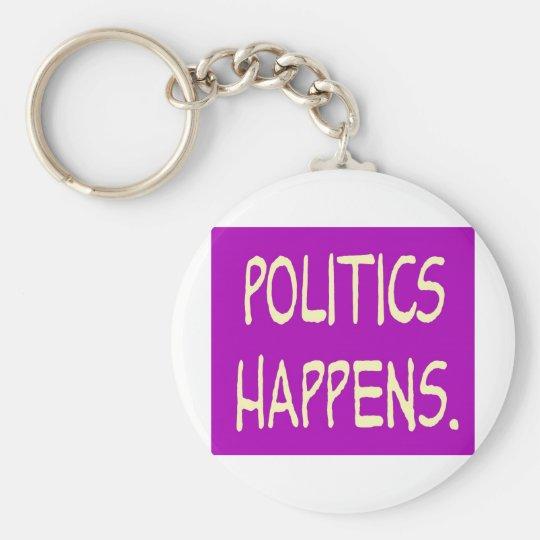 politics happens keychain