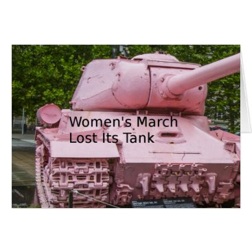 Politics Humor: Women's March Lost Its Pink Tank