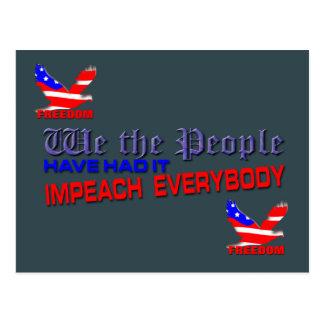 Politics Impeach everybody Postcard