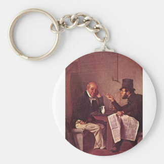 Politics in an Oyster House_Great Work of Art Keychain
