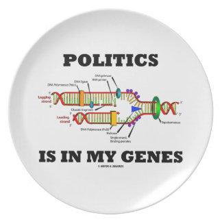 Politics Is In My Genes DNA Humor Dinner Plate