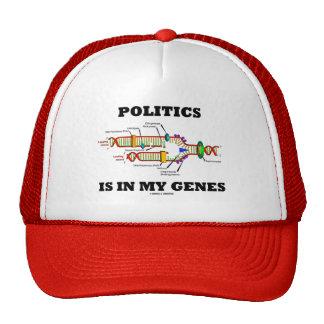 Politics Is In My Genes DNA Humor Trucker Hat