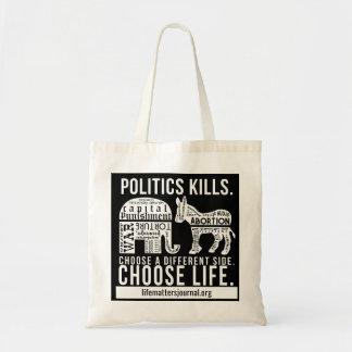 Politics Kills tote