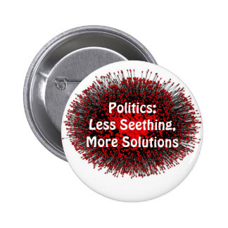 Politics: Less Seething 2 Inch Round Button