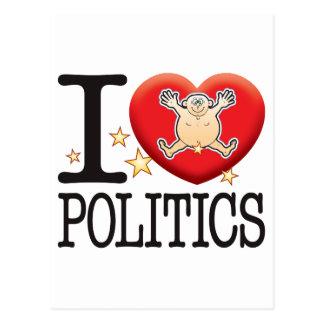 Politics Love Man Postcard