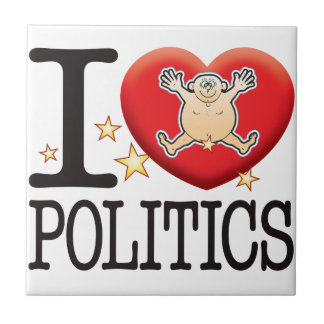 Politics Love Man Small Square Tile