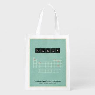 Politics Reusable Grocery Bag