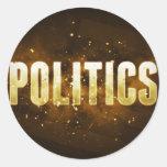 Politics Round Sticker