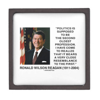 Politics Second Oldest Profession Resemblance Gift Box