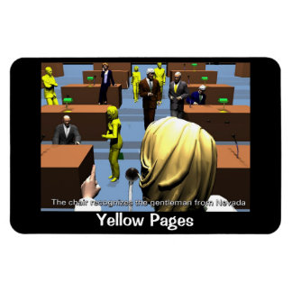 Politics - Senate - In Session - Yellow pages Magnet