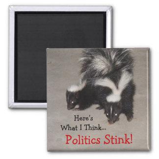 Politics Stink! 2 Inch Square Magnet