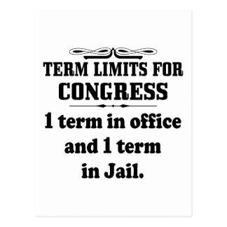 Politics: Term Limits For Congress Postcard