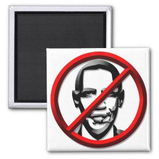 Politics - US - No Obama Symbol 2 Inch Square Magnet