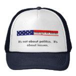 Politics versus Issues (hat)