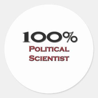 Politólogo del 100 por ciento etiquetas redondas