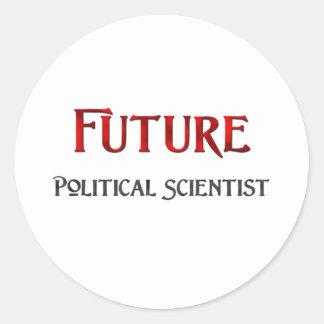 Politólogo futuro etiqueta redonda