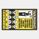 Politrician Warning Sticker Set