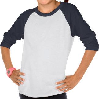 Polivinílico-Algodón de la ropa de los CHICAS 3/4 Tshirt