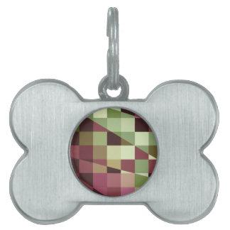 Polivinílico bajo abstracto púrpura y verde rojo placas de mascota