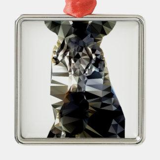Polivinílico bajo animal africano principal de la adorno navideño cuadrado de metal