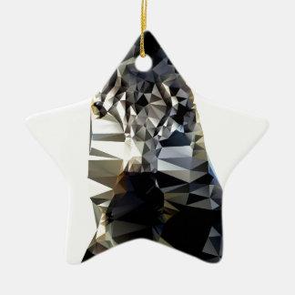 Polivinílico bajo animal africano principal de la adorno navideño de cerámica en forma de estrella