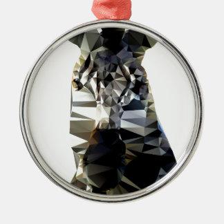 Polivinílico bajo animal africano principal de la adorno navideño redondo de metal