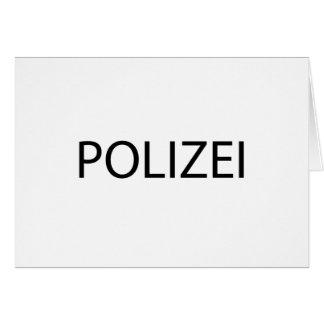 POLIZEI - German Police Card