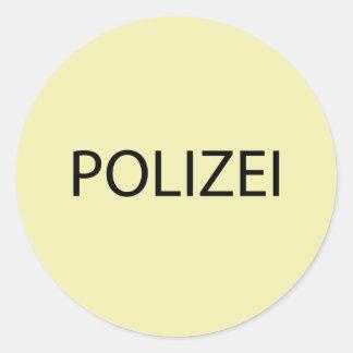 POLIZEI - German Police Classic Round Sticker