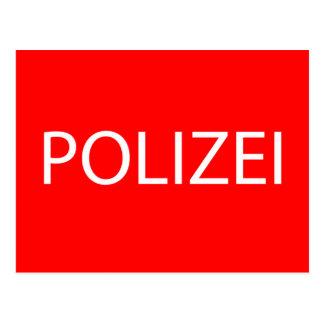 POLIZEI - German Police Postcard