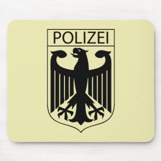 POLIZEI - German Police Symbol Gifts Mouse Pad