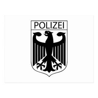 POLIZEI - German Police Symbol Gifts Postcard
