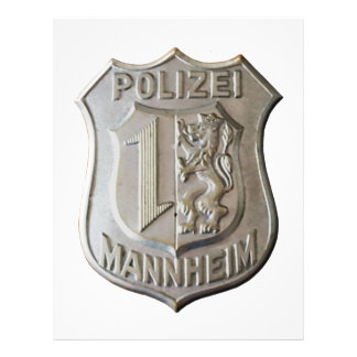 Polizei Mannheim Letterhead