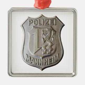 Polizei Mannheim Metal Ornament